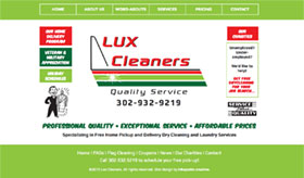 Retro-inspired design for Lux Cleaners